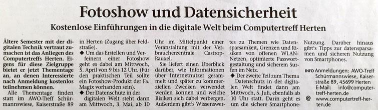 Hertener Allgemeine 27.3.2017