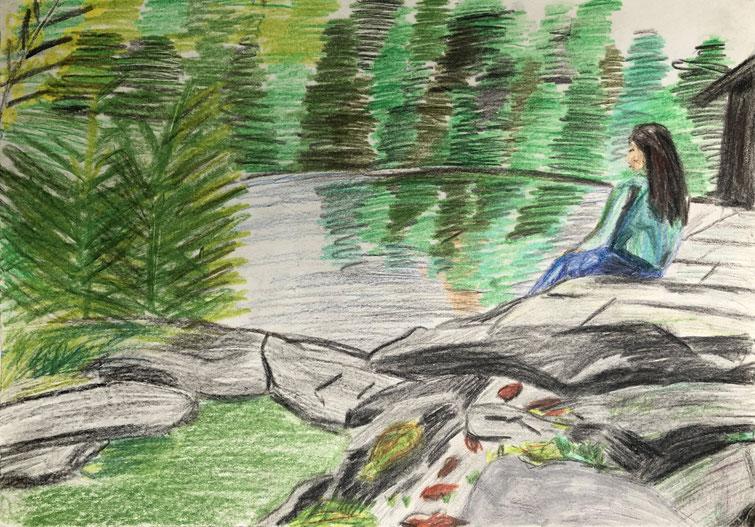 Kinder, Jugendliche und Erwachsene malen und zeichnen zusammen in den Kursen im Atelier Malkasten Warendorf.