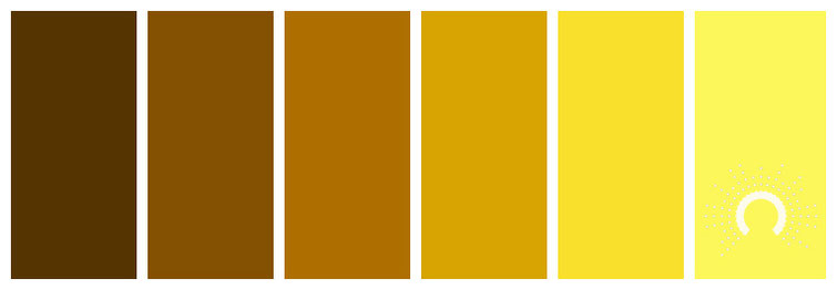 color palette, Farbpalette, Farbinspiration, color inspiration, gelb, yellow, orange, yellow-orange, gelborange