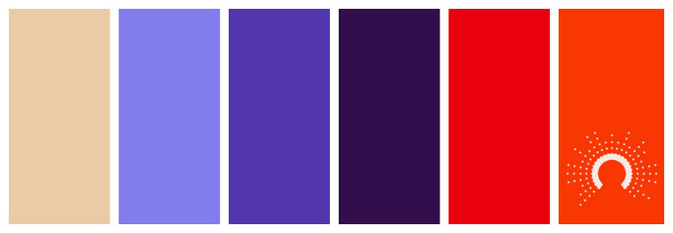 color palette, Farbpalette, Farbinspiration, color inspiration, blue, violet, blau, violet, lila, purple, helllila, gelb, yellow, green, grün, blaugrün, green-blue