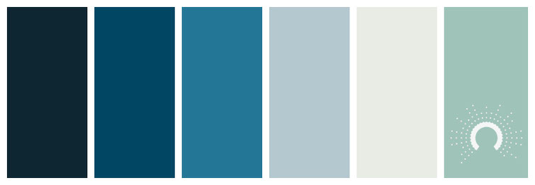 Farbinspiration, color inspiration, color palette, color combination, color combo, Farbpalette, color palette, color combination, color combo, blau, grün, blaugrün, grau