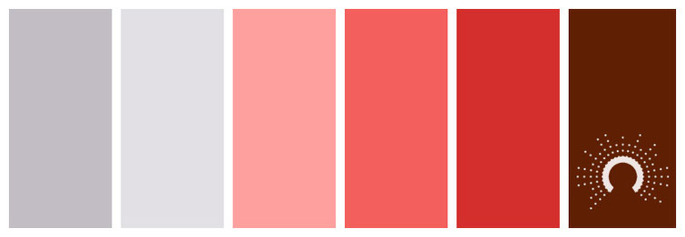 color palette, Farbpalette, Farbinspiration, color inspiration, gray, grey, red, red tint, red shade, grau, rot, rosa, braun