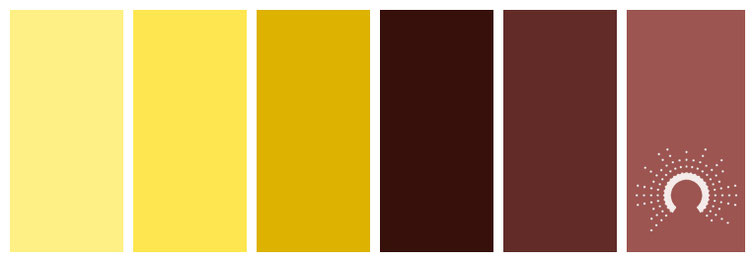 color palette, Farbpalette, Farbinspiration, color inspiration, gelb, yellow, brown, braun, red, rot, warm colors, warme Farben