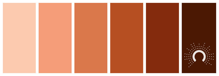 color palette, Farbpalette, Farbinspiration, color inspiration, red-orange, rotorange, braun, brown