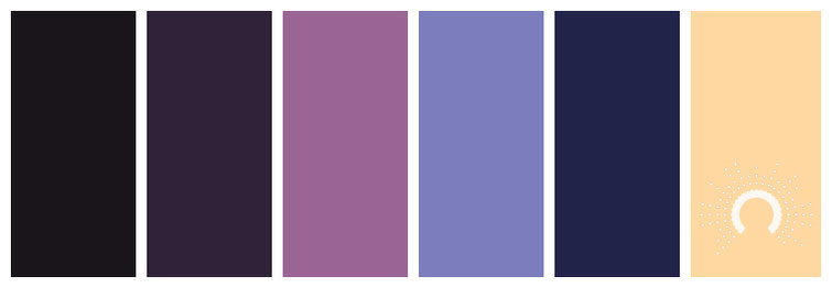 Farbinspiration, color inspiration, color palette, color combination, color combo, Farbpalette, hue, red-violet, blue-violet, blue, yellow, orange-yellow, adamma, stekovics