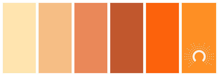 color palette, Farbpalette, Farbinspiration, color inspiration, orange, rotorange, red-orange, yellow-orange