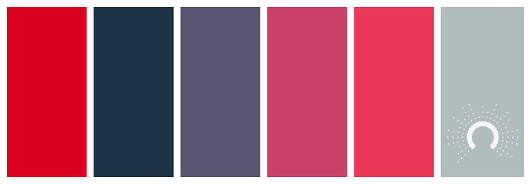 color palette, Farbpalette, Farbinspiration, color inspiration, red, blue, blue-violet, red-violet, red tint, blue green tint