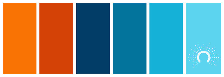 color palette, Farbpalette, Farbinspiration, color inspiration, orange, blau, blue