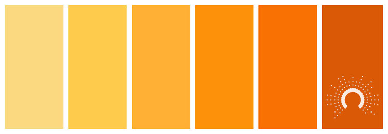 color palette, Farbpalette, Farbinspiration, color inspiration, gelb, yellow, orange, yellow-orange, gelborange, rose, taupe, green, grün