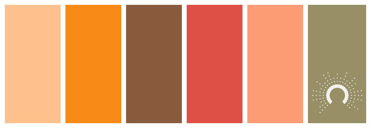 color palette, Farbpalette, Farbinspiration, color inspiration, orange, braun, brown, red, green, grün, rot