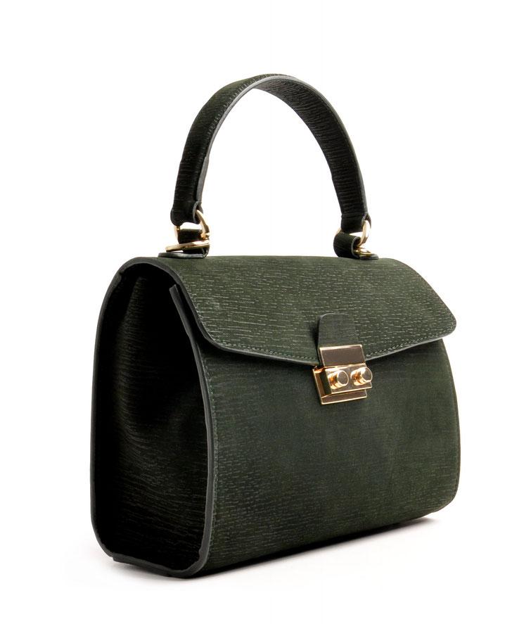Online-Shop  OWA Tracht modische zeitlose Dirndltasche  Henkeltasche CLOE  . Farbe grün. Schulterriemen versandkostenfrei bestellen Handlebag Trachtentasche