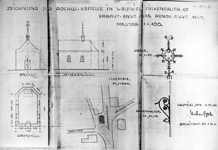 Rochuskapelle Plan Chr. Bach