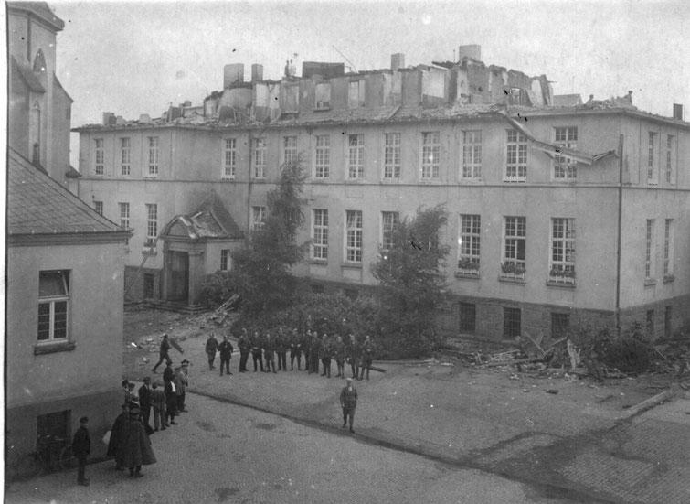 Brand im St. Josefs - Heim, etwa 1912