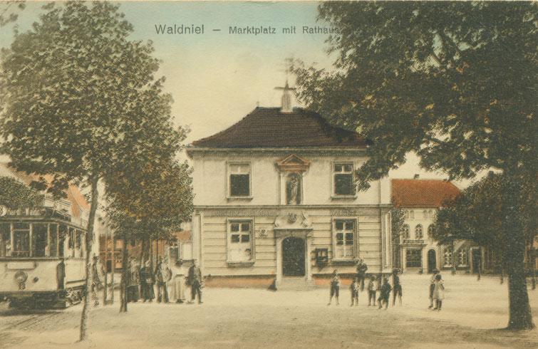 Altes Rathaus, koloriert, 1924
