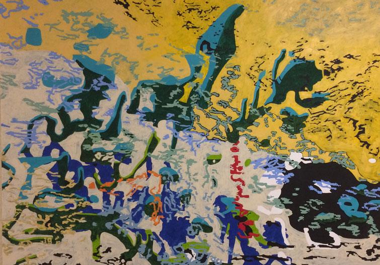 """""""Norse Geschichten"""" Oil on canvas (2017) 135 cm x 100 cm"""