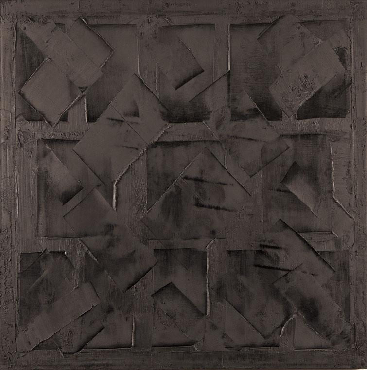 E penso a Braque.Acrilico su tela.95x95.2014