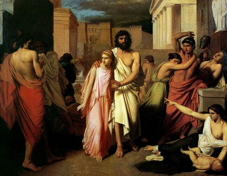 """C. Jalabert, """"Edipo e Antigone"""", 1843"""