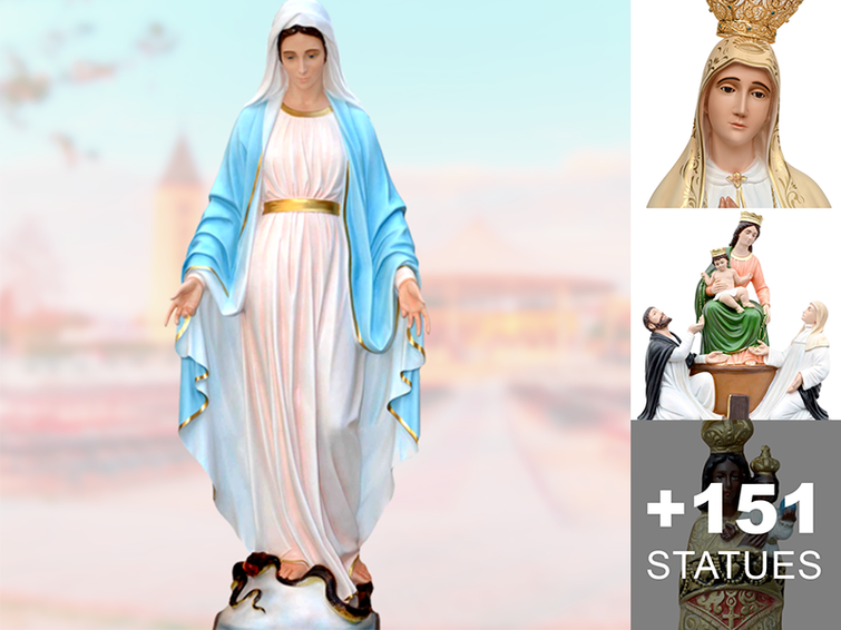 Mary religious statues