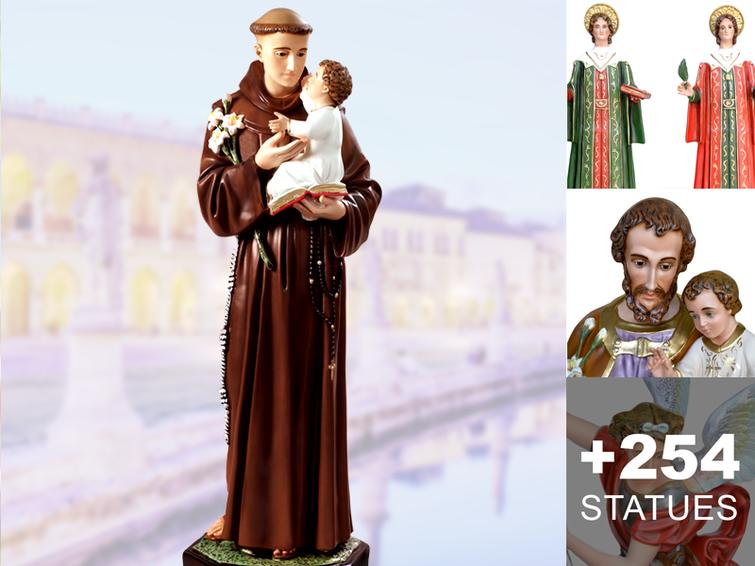 Saint male religious statues