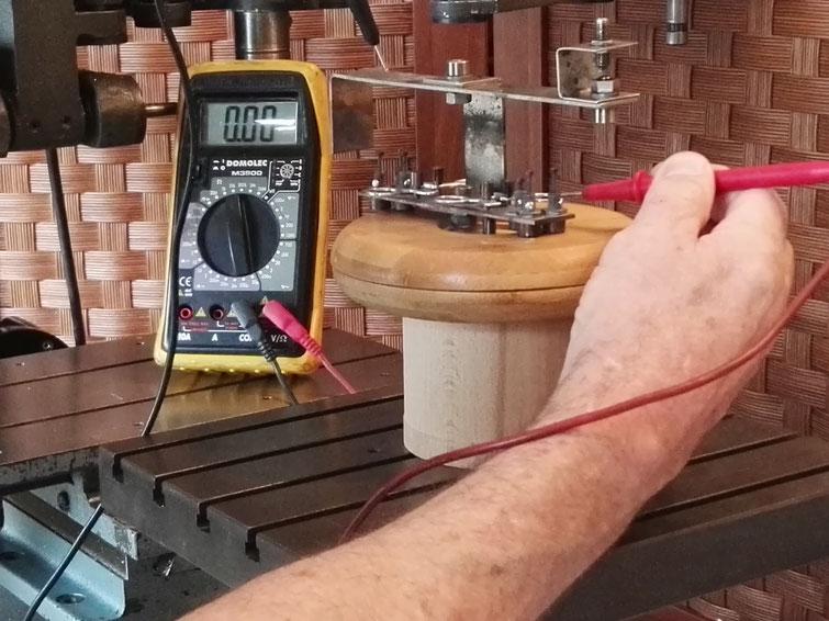 Test de continuité électrique du montage