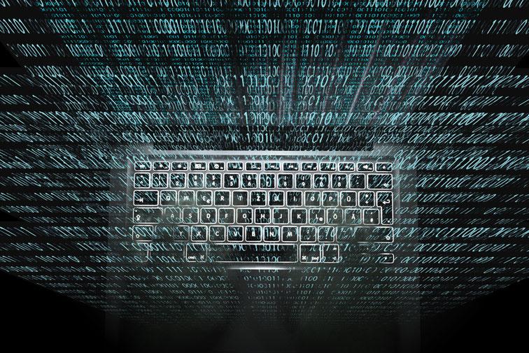 Tastatur in Zahlencode, grafische Darstellung; Wirtschaftsdetektei Dortmund, Wirtschaftsdetektiv Dortmund, IT-Forensik Dortmund
