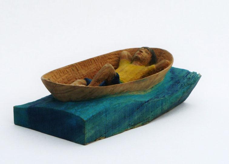 Im Boot Eukalyptusholz