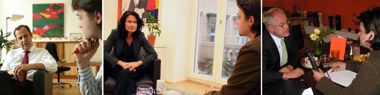 Harald Pomper mit Minister Josef Pröll, Grünen-Chefin Eva Glawischnig und EU-Parlamentarier Hans-Peter Martin. Fotos: János Fehérváry