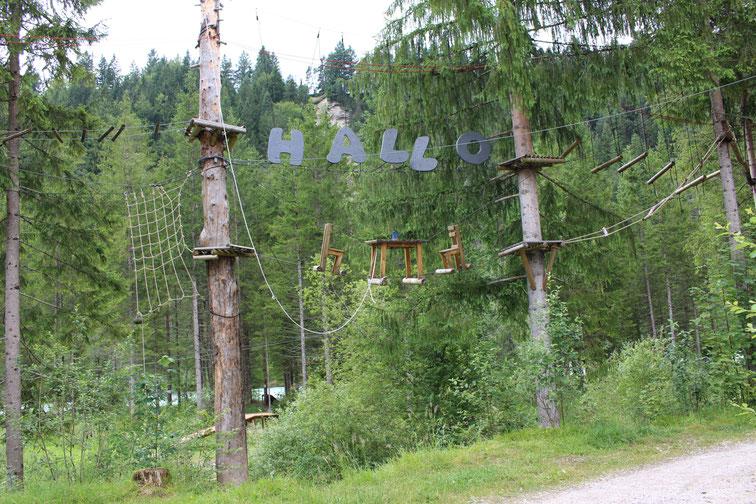 Klettergarten am Naturcampingplatz Isarhorn