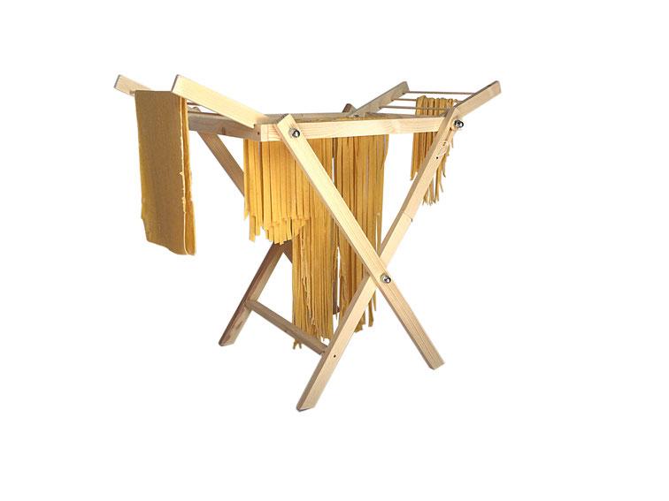Stendipasta pieghevole in legno