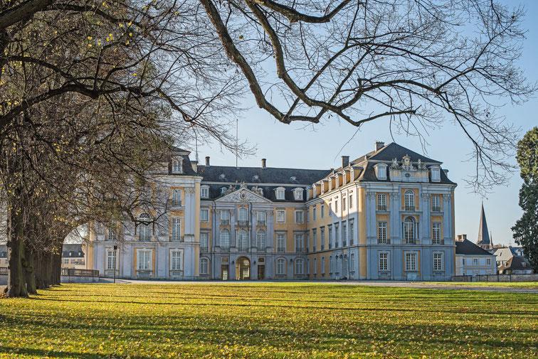 Schloss Augustburg in Brühl im Frühjahr; Detektei Brühl, Detektiv Brühl
