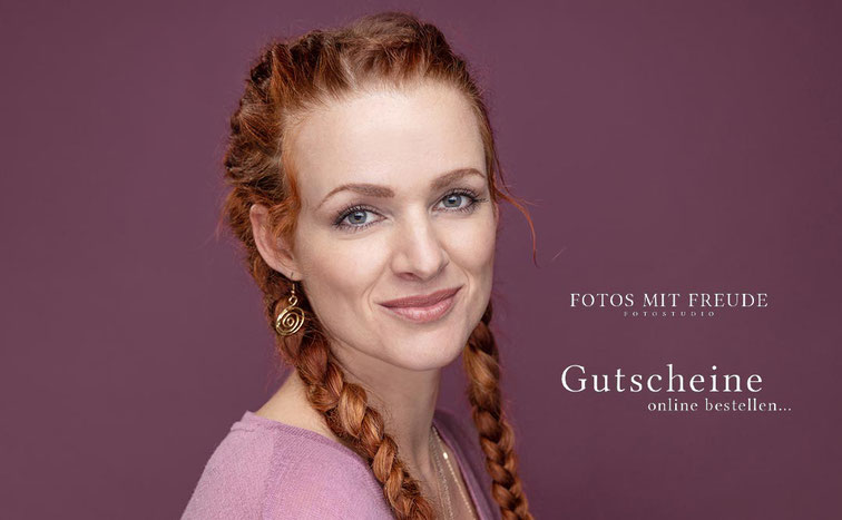 Fotoshooting Gutschein ganz einfach online bestellen - bei FOTOS MIT FREUDE - Fotostudio in Erlangen - perfektes Geschenk