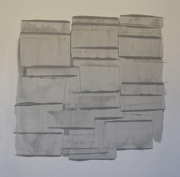 Voglia di libri.Acrilico su tela,100x100.2015  Collezione privata