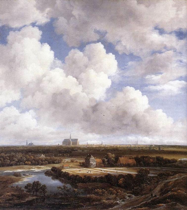 """Jacob van Ruisdael, """"Veduta di Haarlem con campi di candeggio"""" (1670-1675 ca.)"""