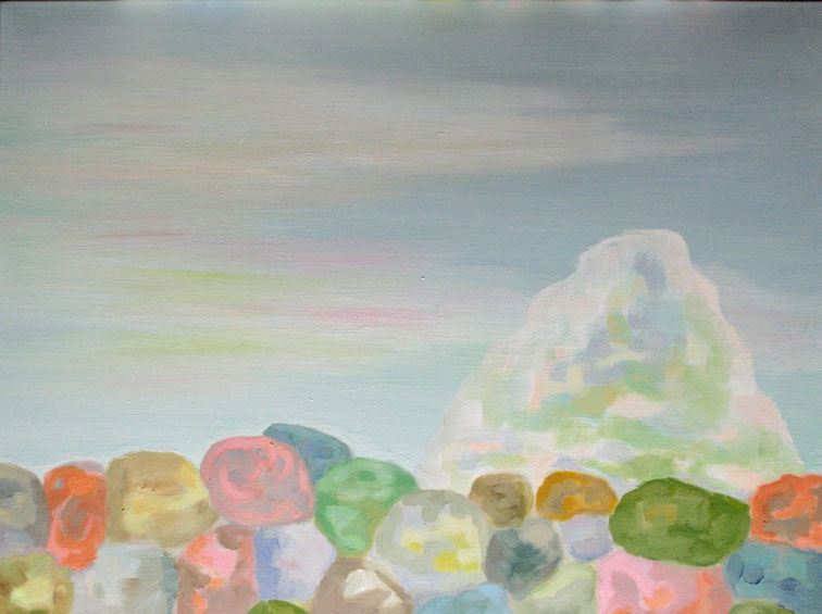 Minéral 3, 2015  Acryl auf Leinwand 60x80