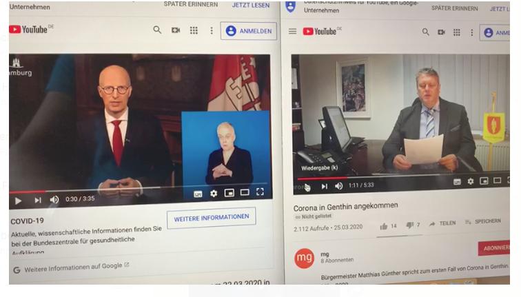 Hat der Genthiner Bürgermeister sein Corona-Video abgekupfert?