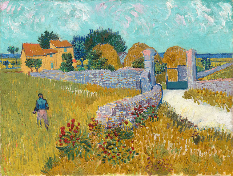 Vincent van Gogh, Farmhouse in Provence, 1888 Image Use:  open access