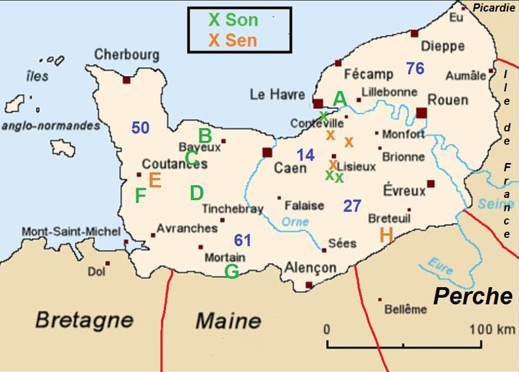 Occurrences normandes - Les croix pour la vallée de la Touques