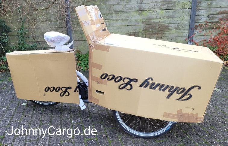 Sichere Transportverpackung für Ihren Johnny Loco eCargo Cruiser.