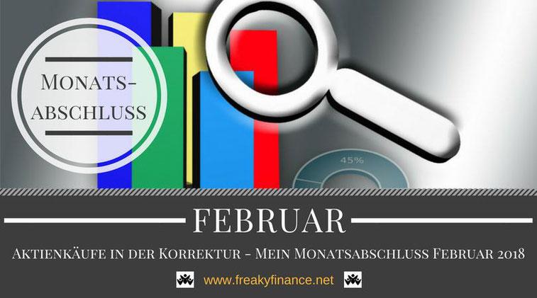 freaky finance, Monatsabschluss, Februar 2018, Statistik, Balkendiagramm, Lupe