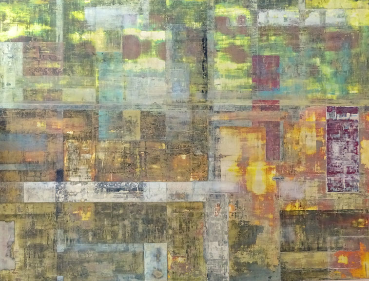 """ Urban Chaos "" - Acrylics on wood - 122 W x 92 H x 2 cm"