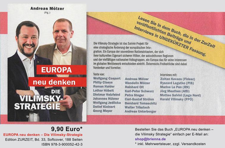 Edition ZUR ZEIT, Europa neu denken, die Vilimsky-Strategie, Harald Vilimsky