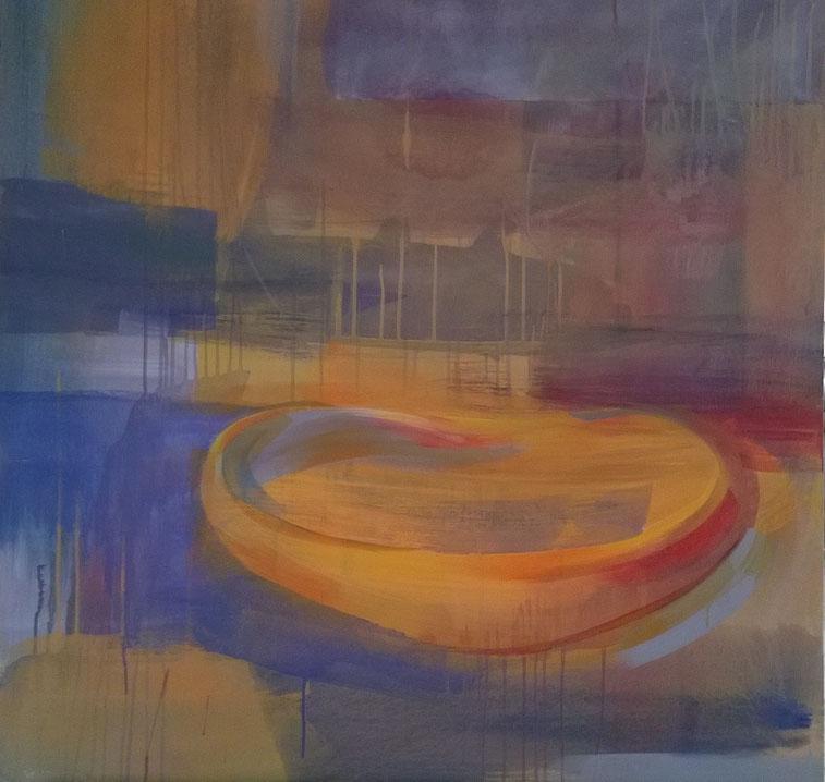 Stilles Leben 2, Acryl auf Leinwand und board, 100/100 cm