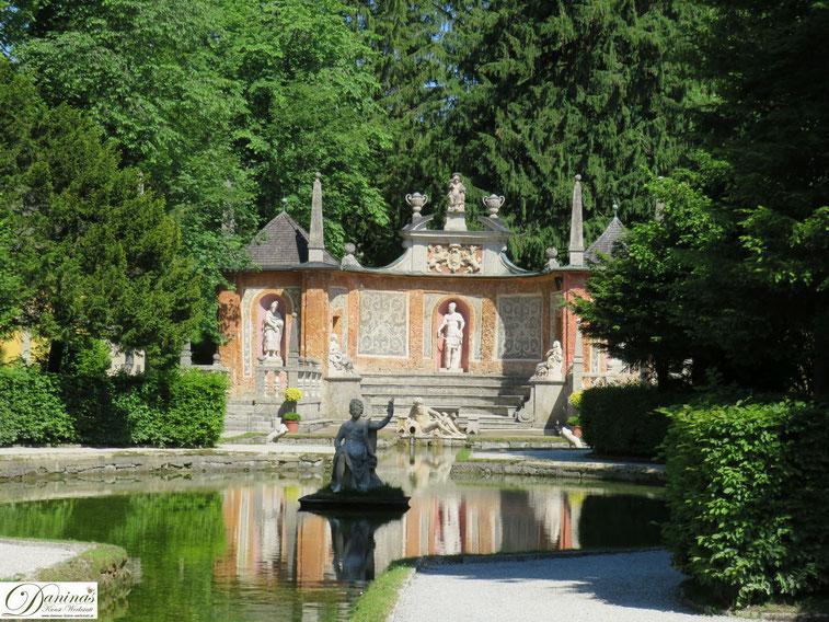 """Das """"Theatrum"""" - Wasserspiele Hellbrunn in Salzburg"""
