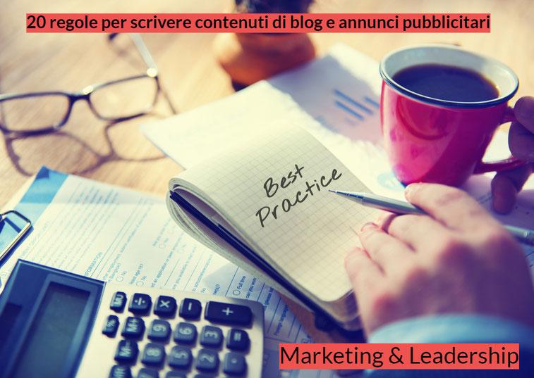 20 regole per scrivere contenuti di blog e annunci pubblicitari che vendano