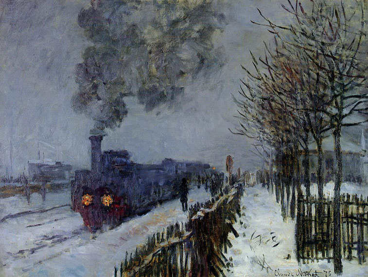 "C. Monet, ""Treno nella neve"" (1875)"