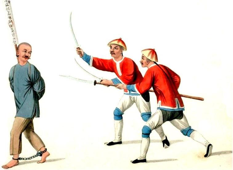 Les punitions des Chinois. Texte de George Henry Mason. Gravures de J. Dadley. G. Miller, Londres, 1801. 20. Malfaiteur conduit pour être exécuté.