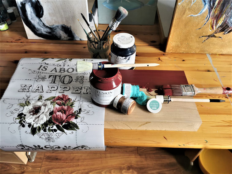 Workshop zu Möbelgestaltung,Kreidefarbe Annie Sloan,  Neuenhagen
