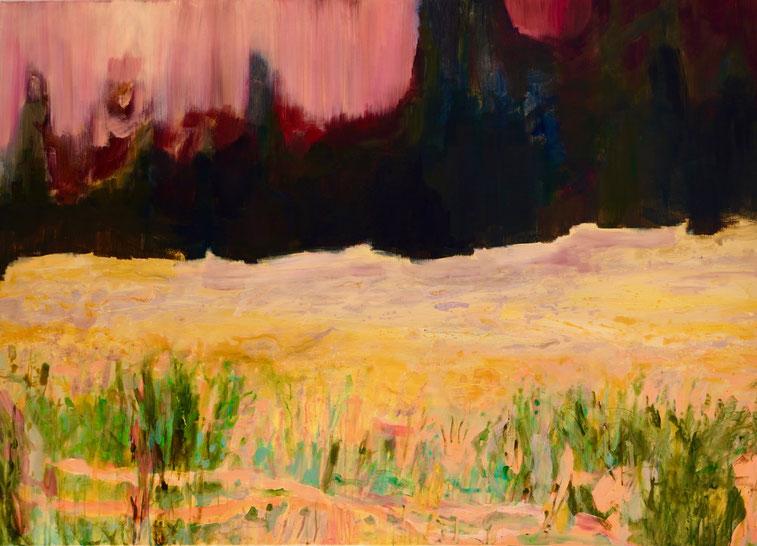 Tellurique 4, 2015 Acryl auf Leinwand 100x140