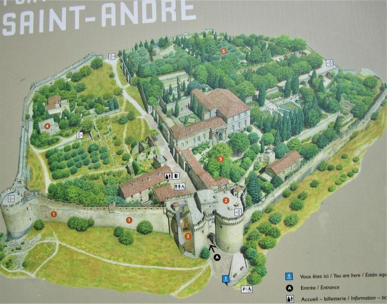 Bild: Fort Saint André & Les Jardins de l´Abbaye Saint André in Villeneuve-les-Avignon