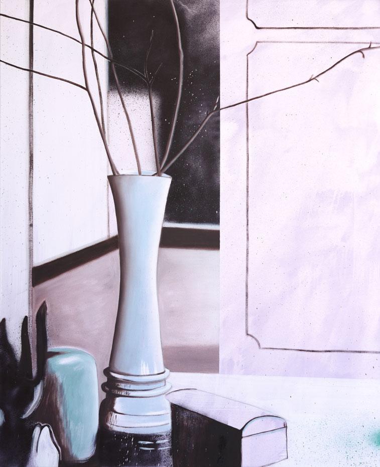 »Stiller Zeuge« 120 x 100 cm, Öl, Lack und Acryl auf Baumwolle